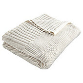 Button knit throw cream