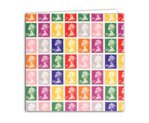 STAMP COLLECTION - Greetings Card - Multi Coloured