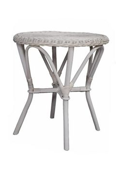 Wicker Valley Rattan Table in White