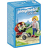 PLAYMOBIL Mother with Twin Stroller - City Life 5573