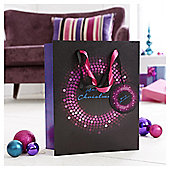 Tesco Sequin Christmas Gift Bag, Large