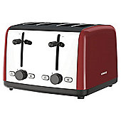 Kenwood TTM480RD Scene 4 Slice Toaster - Red