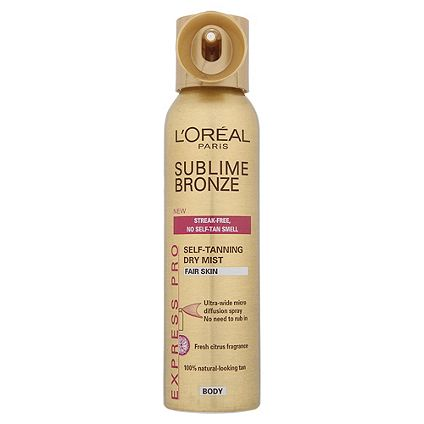 Save 1/3 on selected L'Oreal sublime bronze self tan
