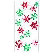Christmas Party Bags Snowflake Cello Bags (20pk)