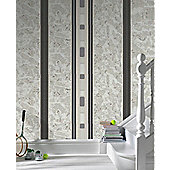 Superfresco Hunslow Wallpaper - Grey and Black