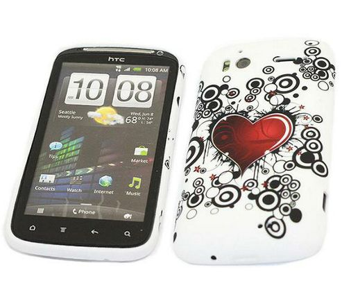 iTALKonline ProGel Printed Brave Heart Skin Case - For HTC Sensation