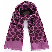 Purple Polka Dot Print Scarf