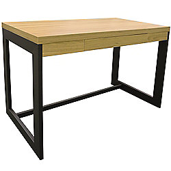 Funda - Office Workstation / Computer Desk - Oak / Black