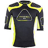 Kooga Rugby Senior IPS Pro V Shoulder Pads IRB Approved - Black