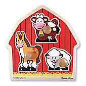 Barnyard Large Peg Puzzle - Melissa & Doug