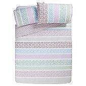Tesco Ditsy Floral Duvet Cover And Pillowcase Set, - Multi & White