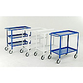 2 Tier tray trolley - Blue epoxy