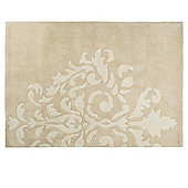 Damask Acrylic Rug 80 x 150cm, Natural