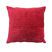 Dreamscene Waffle Cushion Cover Unfilled 55 x 55 cm - Red