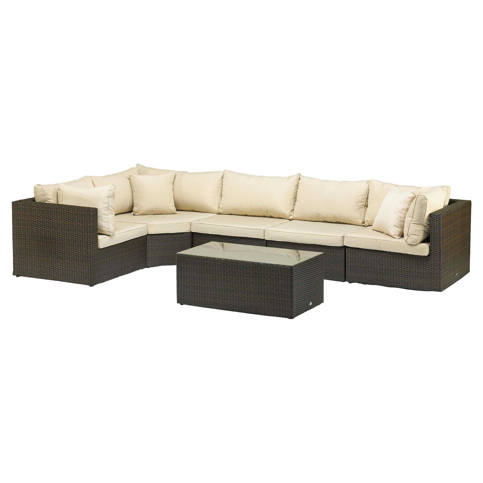 Royalcraft Cannes  Modular Lounge Suite - 5 seater - Brown at Tesco Direct