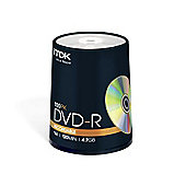 TDK 4.7 GB 16x Cake box 100 Pack DVD-R