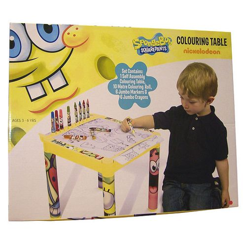 Sponge Bob Square Pants Colouring Table
