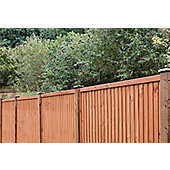 Closeboard Wooden Fence Panel, 4 pack, 150cm
