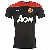 2013-14 Man Utd Nike Training Jersey (Black-Red) - Black