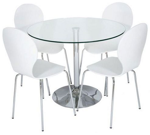 Buy LEVV 5 Piece Dining Table Set White From Our Dining Table Chair S