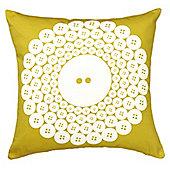 Graduate Collection Button Cushion - Mustard