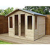 8ft x 8ft Pressure Treated Tongue and Groove Summerhouse 8 x 8 Wooden Summerhouse 8x8