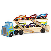 Melissa and Doug Jumbo Race Car Carrier