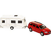 Die Cast PB Volvo V70 With Caravan - Kids Globe