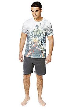 Marvel Avengers Age of Ultron Shorts Jersey Loungewear Set - Multi