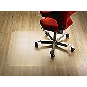 COBA Europe PC Flat Chairmat - Lip Shape 150cm x 120cm