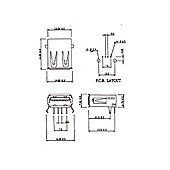 USB 2.0 (A) Line Socket