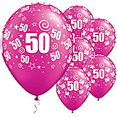 11' 50th Swirl Around Pearl Magenta (25pk)