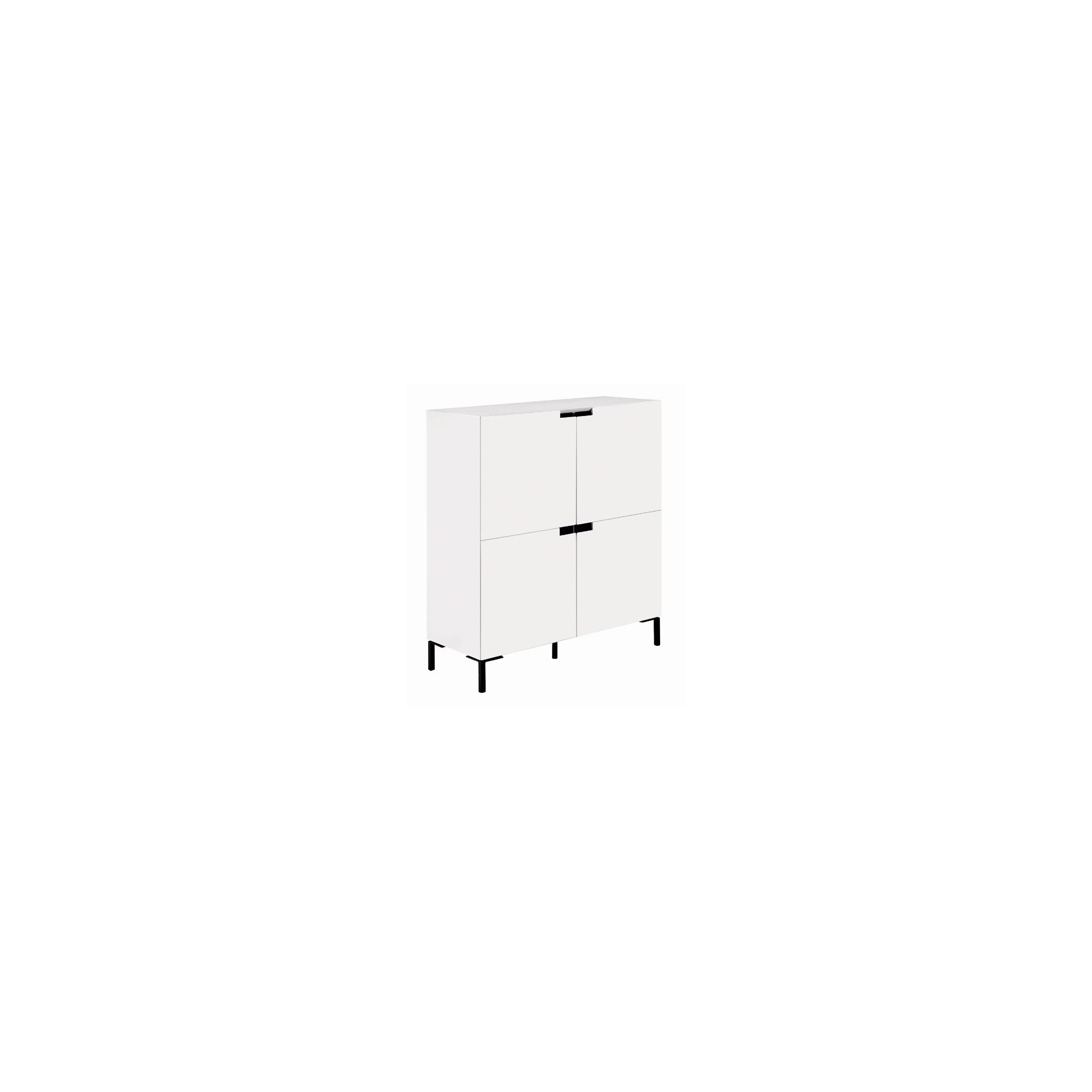 Gillmore Space Vico Square Sideboard in White Gloss Lacquer at Tesco Direct