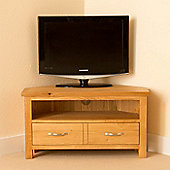 Newlyn Corner TV Stand - Light Oak