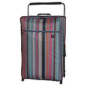 It Luggage Worlds Lightest 2-Wheel X-Large Teal Stripe Suitcase