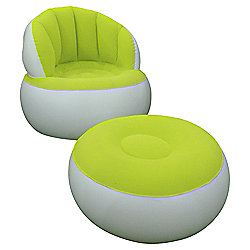 Tesco Inflatable Lounge Chair Green