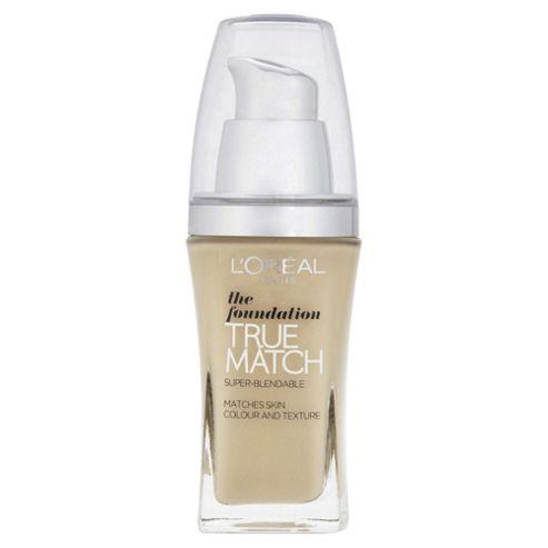 L'Oréal True Match Foundation W1 Golden Ivory 30ml