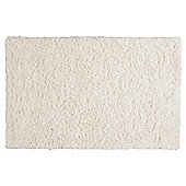 Tesco Soft Shaggy Rug Cream 70x130cm
