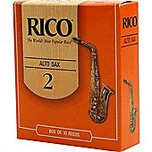 Rico 2 Alto Sax Reed (x10)