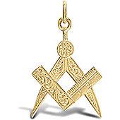 Jewelco London 9ct Solid Gold Masonic Pendant charm