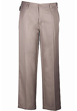 Tailored Mens Golf Golfing Lightweight Anti Stain Casual Trousers - Brown