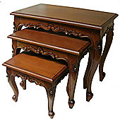 Lock stock and barrel Mahogany 3 Piece Queen Anne Nest of Tables