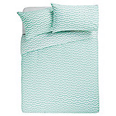 Tesco Basic wave duvet set  KS seafoam