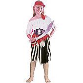 Child Classic Pirate Girl Costume Medium