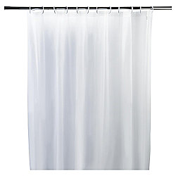 Tesco Basics Shower Curtain and Shower Ring Set