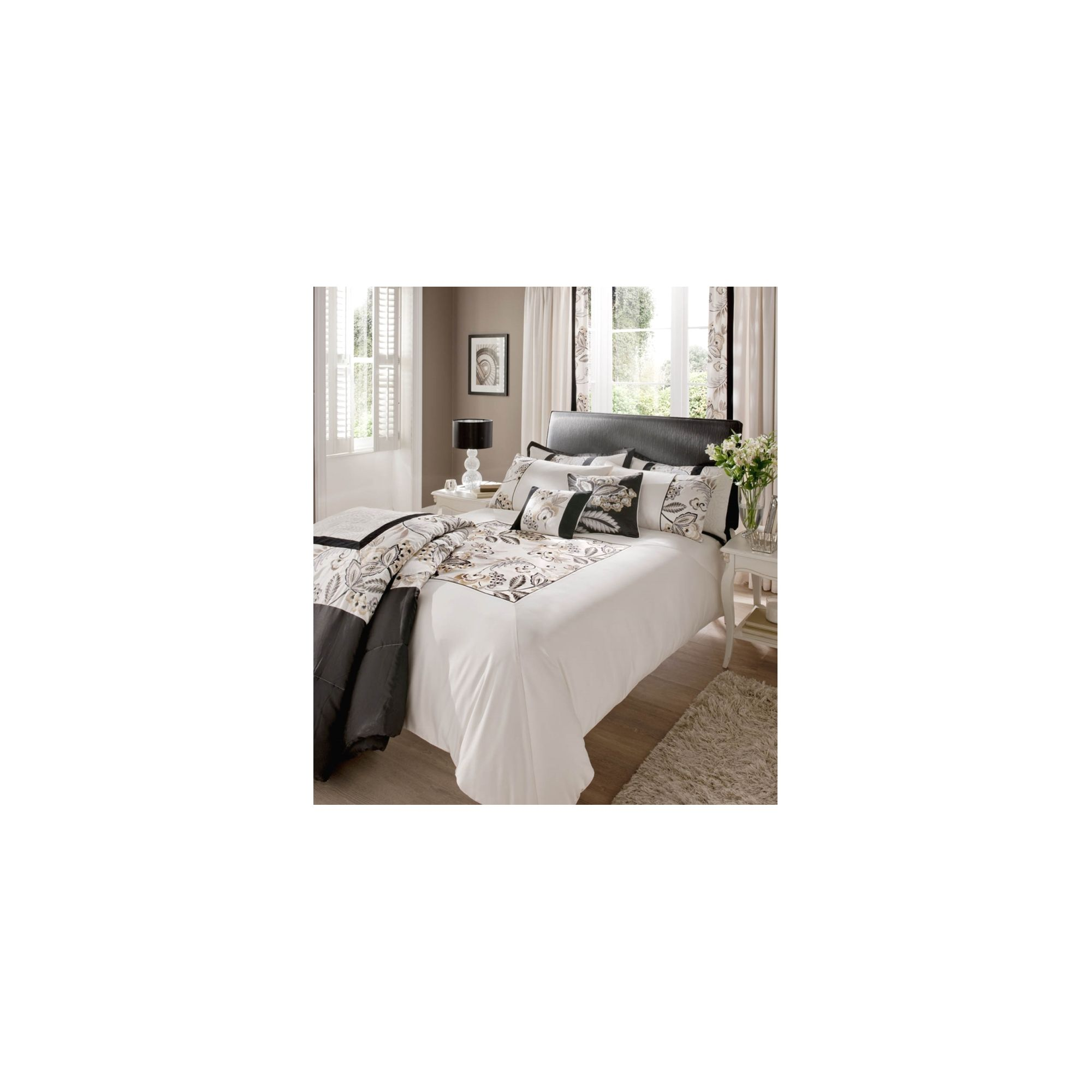 Home and garden bedroom tesco cosmo kingsize size duvet cover set black special offers Tesco home bedroom furniture