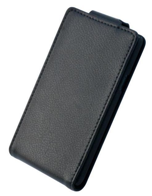 "Tortoiseâ""¢ Genuine Leather Flip Case Samsung Galaxy SII Black"