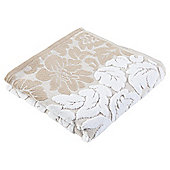 Tesco Grey White Jacquard Hand Towel