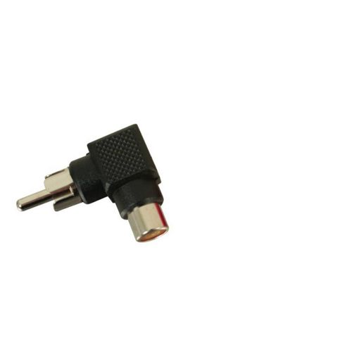 Right Angle Phono Adaptor Black