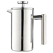 Tesco 3 Cup Cafetiere Double Walled, Stainless Steel
